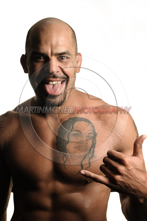 A portrait of mixed martial arts athlete Jorge Rivera
