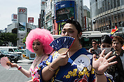Japan, Tokyo : TOKYO, JAPAN - MAY 08: Participants attend the rainbow pride parade on May 8, 2016 in Tokyo, Japan.