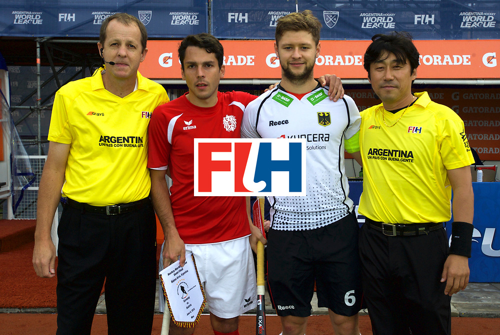 BUENOS AIRES - Hock World League Semi Final Men<br /> 11 GER v AUT (Pool B)<br /> foto: Captains etc.<br /> FFU PRESS AGENCY COPYRIGHT FRANK UIJLENBROEK