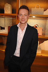 TIM MARLOW writer, broadcaster, art historian and Director of Exhibitions at White Cube at a reception to launch the 2007 Louis Vuitton Christmas windows in collaboration with Central Saint Martins College of Art & Design held at 17-18 New Bond Street, London W1 on 7th November 2007.<br />