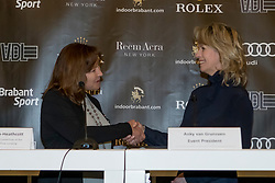 The organizers of the Rolex Grand Slam of Showjumping<br /> In the picture : Linda Southern-Heathcott, President of the Steering Committee of the Rolex Grand Slam of Show Jumping, Anky Van Grunsven, President Indoor Brabant<br /> Indoor Brabant - Den Bosch 2017<br /> &copy; Dirk Caremans<br /> 12/03/2017