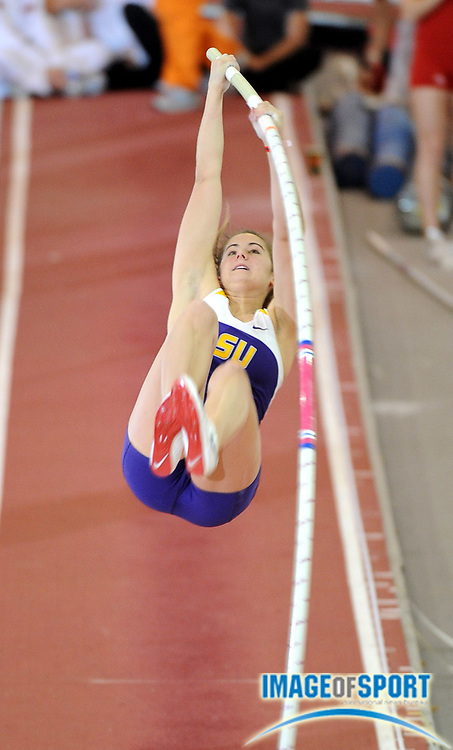 Feb 14, 2009; Fayetteville, AR, USA; Rachel Laurent of LSU was fourth in the women's pole vault in a school-record 13-9 1/4 (4.20m) in the Tyson Invitational at the Randal Tyson Track Center at the University of Arkansas.