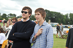 Left to right, brothers ISAAC FERRY and MERLIN FERRY at the 2009 Veuve Clicquot Gold Cup Polo final at Cowdray Park Polo Club, Midhurst, West Sussex on 19th July 2009.