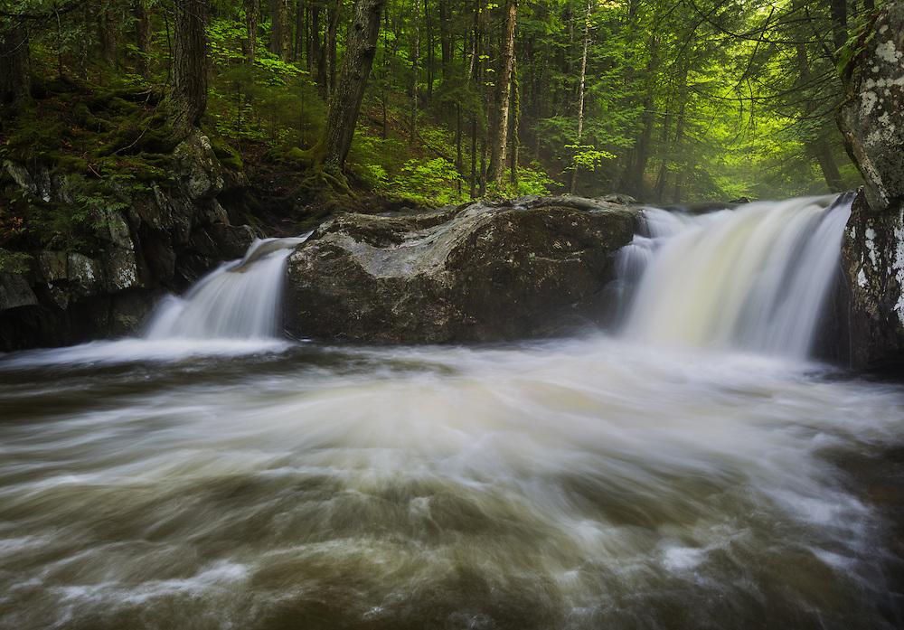Spring flows on Hancock Brook, Worcester, VT