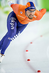 11-12-2016 NED: ISU World Cup Speed Skating, Heerenveen<br /> Kjeld Nuis NED pakt goud op de 1000 meter