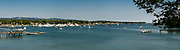 View of Southwest Harbor, Acadia National Park, Maine, USA.