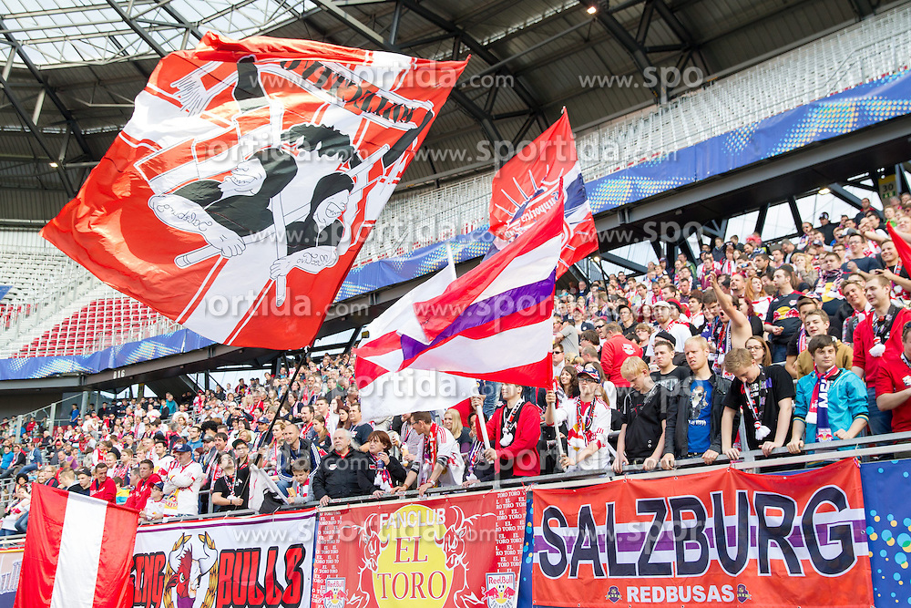 18.05.2014, Woerthersee Stadion, Klagenfurt, AUT, OeFB Samsung Cup, FC Red Bull Salzburg vs SKN St. Poelten, Finale, im Bild Fansektor Red Bull Salzburg // during the mens OeFB Samsung Cup final match between FC Red Bull Salzburg vs SKN St. Poelten at the Woerthersee Stadium, Klagenfurt, Austria on 2014/05/18. EXPA Pictures © 2014, PhotoCredit: EXPA/ Johann Groder