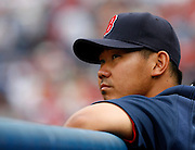 Boston pitcher Daisuke Matsuzaka during the game between the Atlanta Braves and the Boston Red Sox at Turner Field in Atlanta, GA on June 19, 2007..