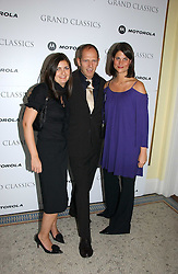 Left to right,VANESSA WINGATE, PAUL SIMONON and KATRINA PAVLOS at the Grand Classics screening of Brighton Rock hosted by Paul Simonon at The Electric Cinema, Portobello Road, London W11 on 5th June 2006.<br />