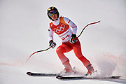 South Korea, PyeongChang - 2018 February 21: Maryna Gasienica-Daniel from Poland competes while Alpine Skiing Ladies' Downhill Final during The 2018 PyeongChang Olympic Winter Games at Jeongseon Alpine Centre on February 21, 2018 in PyeongChang, South Korea.<br /> <br /> Mandatory credit:<br /> Photo by &copy; Adam Nurkiewicz<br /> <br /> Adam Nurkiewicz declares that he has no rights to the image of people at the photographs of his authorship.<br /> <br /> Picture also available in RAW (NEF) or TIFF format on special request.<br /> <br /> Any editorial, commercial or promotional use requires written permission from the author of image.