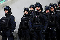 Police during football match between NK Olimpija and NK Maribor in first leg of quarter-final of Slovenia Cup, on February 27, 2013 in SRC Stozice, Ljubljana, Slovenia. (Photo By Vid Ponikvar / Sportida)