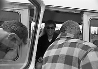 Bruce Springsteen arriving at Dublin Airport, 04/07/1988 (Part of the Independent Newspapers Ireland/NLI Collection).
