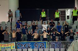 Celjski grofje, fans of Celje during football match between NK Olimpija Ljubljana and CM Celje of 1st Round of 1st Slovenian League PrvaLiga, on July 17, 2011, in  SRC Stozice, Ljubljana, Slovenia. Celje defeated Olimpija 3-0. (Photo by Vid Ponikvar / Sportida)