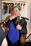 KIM MURDOCK, Dirty Pretty Things - summer party. Lingerie line hosts  party celebrating its new online shop and showcasing the latest collection. The Lingerie Collective, 8 Ganton Street, Soho. London, 15 June 2011<br /> <br />  , -DO NOT ARCHIVE-© Copyright Photograph by Dafydd Jones. 248 Clapham Rd. London SW9 0PZ. Tel 0207 820 0771. www.dafjones.com.