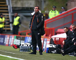 December 23, 2017 - London, United Kingdom - Blackpool manager Gary Bowyer .during Sky Bet  League One match between Charlton Athletic  against Blackpool at The Valley Stadium London on 23 Dec  2017  (Credit Image: © Kieran Galvin/NurPhoto via ZUMA Press)