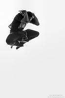 Black and white dance photography featuring modern Dance As Art dancer, Jarrett Rashad