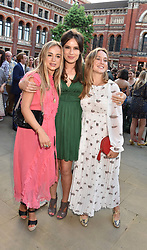 Lady Amelia Windsor, Lady Frederick Windsor and Lady Marina Windsor at the Victoria & Albert Museum's Summer Party in partnership with Harrods at The V&A Museum, Exhibition Road, London, England. 20 June 2018.
