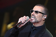 "NICE, FRANCE - SEPTEMBER 22:  George Michael Performs during the ""Symphonica Tour"" at Palais Nikaia on September 22, 2011 in Nice, France.  (Photo by Tony Barson/WireImage)"