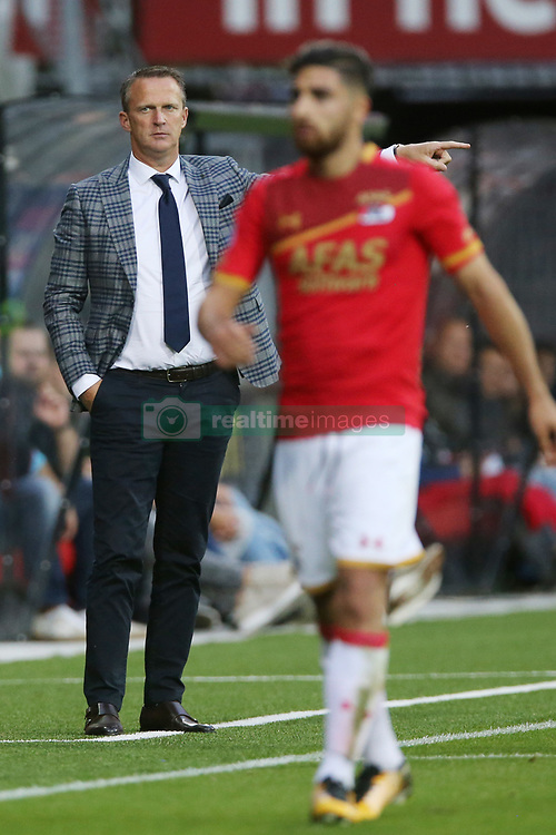 coach John van den Brom of AZ during the Dutch Eredivisie match between AZ Alkmaar and ADO Den Haag at AFAS stadium on August 19, 2017 in Alkmaar, The Netherlands
