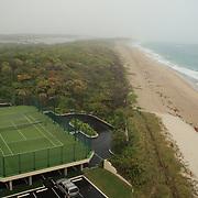 Singer Island, Florida in the fog.