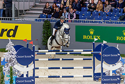 FUCHS Martin (SUI), Clooney 51<br /> Genf - CHI Geneve Rolex Grand Slam 2019<br /> Prix des Communes Genevoises<br /> 2-Phasen-Springen<br /> International Jumping Competition 1m50<br /> Two Phases: A + A, Both Phases Against the Clock<br /> 13. Dezember 2019<br /> © www.sportfotos-lafrentz.de/Stefan Lafrentz