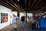 """The opening of an exhbit by Maia Cruz Palileo, """"Meandering Curves of a Creek"""", at Pioneer Works in Red Hook."""