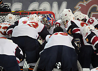 Ice Hockey - 2019 / 2020 National Ice Hockey League (NIHL) South West 2 (Wilkinson) - Guildford Phoenix vs. Cardiff Fire<br /> <br /> Petr Cech of Guildford Phoenix talks to his team before kick off , at Guildford Spectrum.<br /> Ex Footballer  Petr who played for Chelsea and Arsenal<br /> <br /> COLORSPORT/ANDREW COWIE