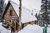 Eric Johnson at the Mount Hayden Backcountry Lodge, San Juan Mountains, Colorado.