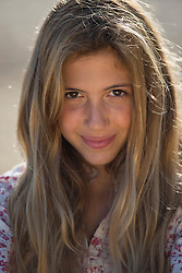 Smiling Teenage Girl, Close-up View