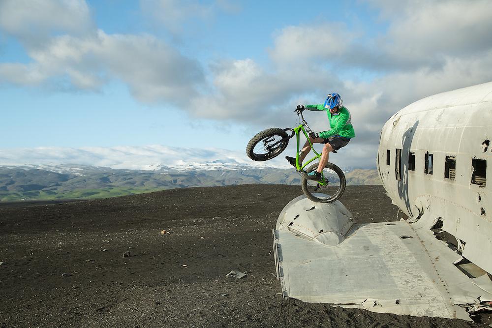 Pat Smage (Fatback Bikes). Southwestern Iceland.