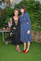 Left to right, CAROLINE FLACK and DAWN O'PORTER at a vintage fashion pop-up evening hosted by Dawn O'Porter at The Gardening Society, John Lewis, Oxford Street on 27th July 2016.