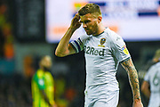 Leeds United defender Stuart Dallas (15) is captain during the EFL Sky Bet Championship match between Leeds United and West Bromwich Albion at Elland Road, Leeds, England on 1 October 2019.