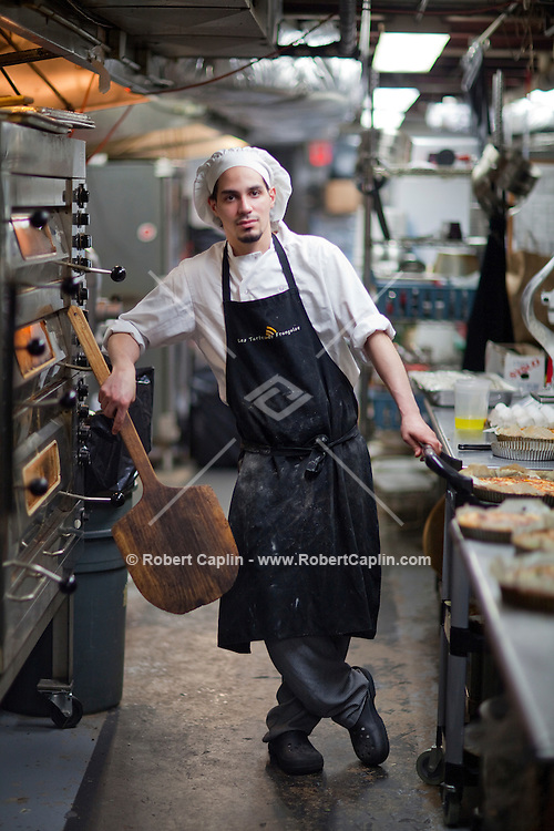 Baker Ernesto Bolta of Les Tartes de Francoise in New York. ..Photo by Robert Caplin.