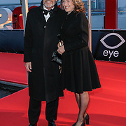 NLD/Amsterdam/20120404 - Opening filmmuseum Eye, Derek de Lint en partner Dorith Jesserun
