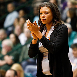 November 19, 2011; New Orleans, LA; LSU Lady Tigers head coach Nikki Caldwell against the Tulane Green Wave during the first half of a game at Avron B. Fogelman Arena.  Mandatory Credit: Derick E. Hingle-US PRESSWIRE
