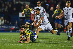 Alex Cuthbert of Cardiff Blues recovers the ball - Mandatory by-line: Craig Thomas/JMP - 14/01/2018 - RUGBY - BT Sport Cardiff Arms Park - Cardiff, Wales - Cardiff Blues v Toulouse - European Rugby Challenge Cup