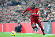 Liverpool forward Sadio Mane (10) during the Premier League match between Liverpool and Manchester United at Anfield, Liverpool, England on 19 January 2020.