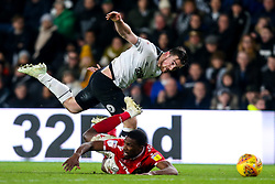 Jack Marriott of Derby County takes on Tendayi Darikwa of Nottingham Forest - Mandatory by-line: Robbie Stephenson/JMP - 17/12/2018 - FOOTBALL - Pride Park Stadium - Derby, England - Derby County v Nottingham Forest - Sky Bet Championship