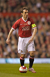 Manchester, England - Tuesday, March 13, 2007: Manchester United's captain Gary Neville in action against a Europe XI during the UEFA Celebration Match at Old Trafford. (Pic by David Rawcliffe/Propaganda)