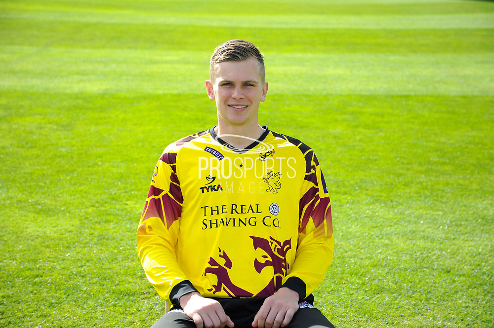 Nat West T20 Blask kit portrait of Ollie Sale during the Somerset County Cricket Club PhotoCall 2017 at the Cooper Associates County Ground, Taunton, United Kingdom on 5 April 2017. Photo by Graham Hunt.