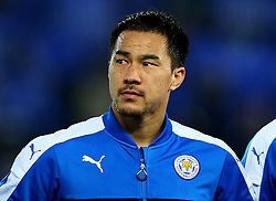 Shinji Okazaki of Leicester City  - Mandatory by-line: Matt McNulty/JMP - 22/11/2016 - FOOTBALL - King Power Stadium - Leicester, England - Leicester City v Club Brugge - UEFA Champions League