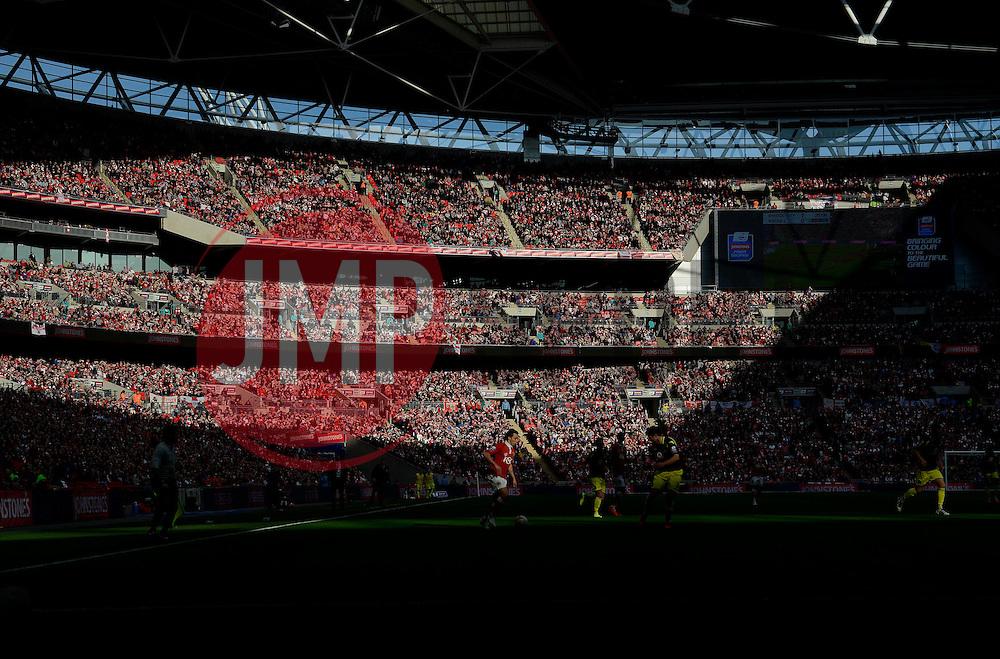 Bristol City's Luke Freeman runs in to a small pocket of light  - Photo mandatory by-line: Joe Meredith/JMP - Mobile: 07966 386802 - 22/03/2015 - SPORT - Football - London - Wembley Stadium - Bristol City v Walsall - Johnstone Paint Trophy Final