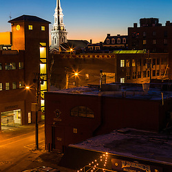 Portsmouth, New Hampshire at dawn.