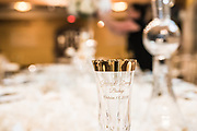 wedding reception custom engraved champagne glass by Tallmadge wedding photographer, Akron wedding photographer Mara Robinson Photography