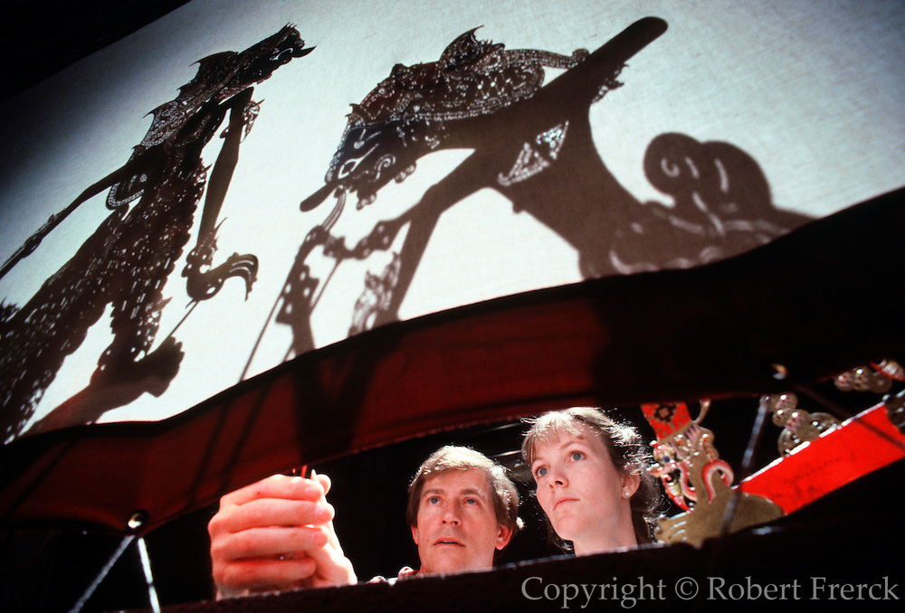 HAWAIIAN ISLANDS, OAHU University of Hawaii; a performance of 'Wayang Kulit' the classic Indonesian  shadow puppet theater