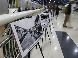 August 16, 2017 - West Jakarta, Jakarta, Indonesia - Jakarta, Indonesia, 16 August 2017 : Tempo Media Group with Indonesian Train Company (PJKA) held photo exhibition about Indonesia Independence day strugle and the train as part of it. The Exhibition held at Palmerah Station-West Jakarta. (Credit Image: ©  via ZUMA Wire)