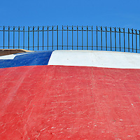 Painted Chilean Flag at El Morro in Arica, Chile<br />