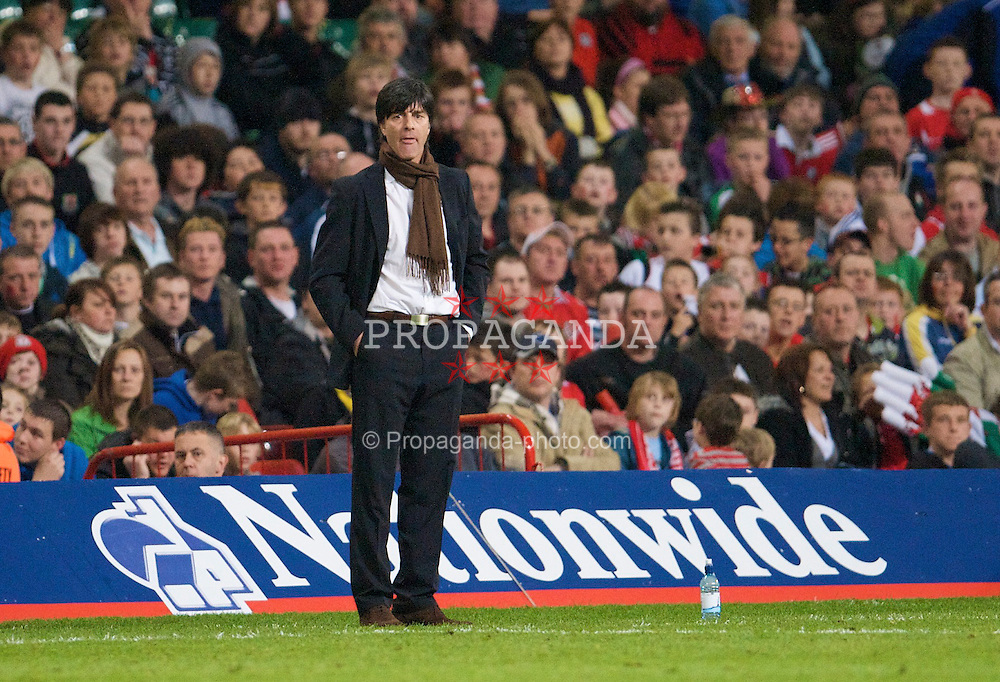 CARDIFF, WALES - Wednesday, April 1, 2009: Germany's Joachim Low during the 2010 FIFA World Cup Qualifying Group 4 match at the Millennium Stadium. (Pic by David Rawcliffe/Propaganda)