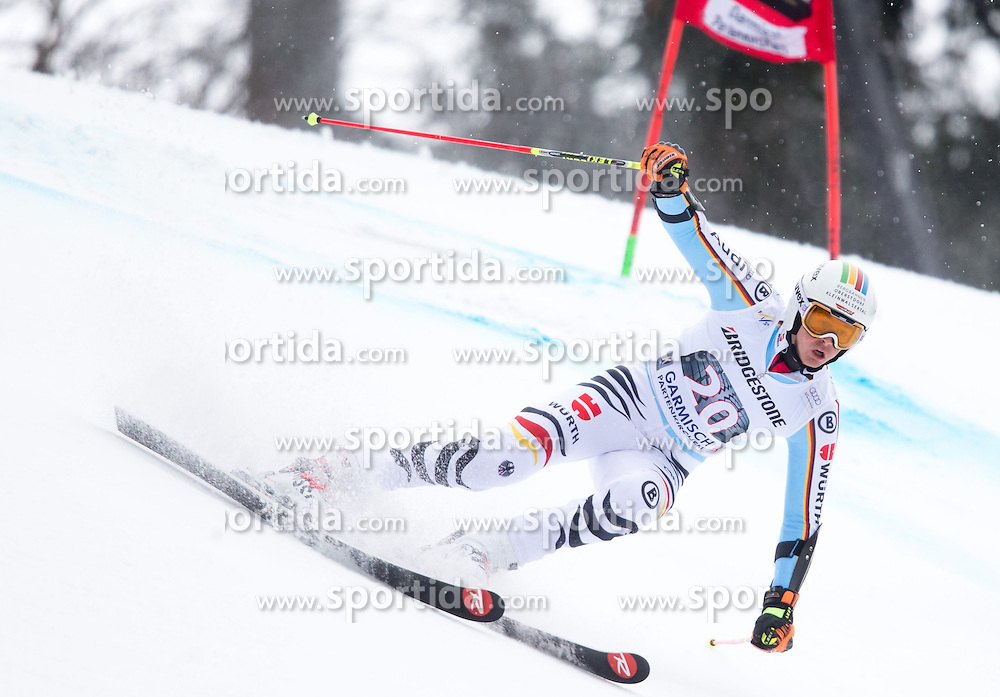 01.03.2015, Kandahar, Garmisch Partenkirchen, GER, FIS Weltcup Ski Alpin, Riesenslalom, Herren, 1. Lauf, im Bild Stefan Luitz (GER) // Stefan Luitz of Germany in action during 1st run for the men's Giant Slalom of the FIS Ski Alpine World Cup at the Kandahar course, Garmisch Partenkirchen, Germany on 2015/03/01. EXPA Pictures © 2015, PhotoCredit: EXPA/ Johann Groder