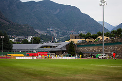 Stadium during football match between NK Domzale and FC Lusitanos Andorra in second leg of UEFA Europa league qualifications on July 7, 2016 in Andorra la Vella, Andorra. Photo by Ziga Zupan / Sportida